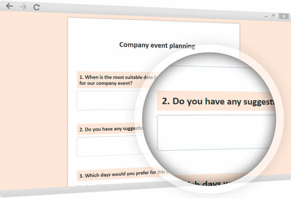 Planning of company or customer events