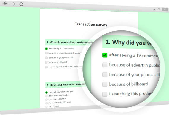 Online transactional surveys